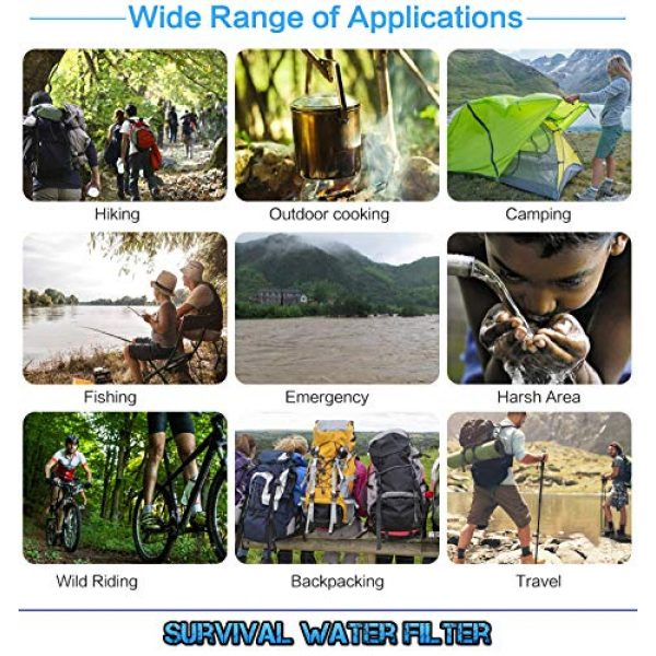 Survival Water Filter Survival Water Filter 3 Survival Water Filter for Camping Gear and Accessories Portable Hiking Kit, Prepper Gear and Supplies, and Backpacking Equipment for Emergency Supplies Essentials Water Pump Survival Kit