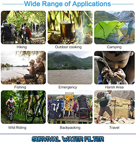 and Backpacking Equipment for Emergency Supplies Essentials Water Pump Survival Kit