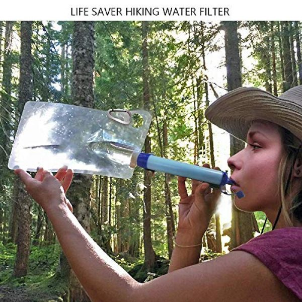 Jak Survival Water Filter 6 Jak Personal Water Filter Straw Water Purifier,Portable Water Filtration Straw Outdoor Purifier Survival Gear Best Life Emergency Tool for Climbing,Sports,Backpacking,Hiking,Camping,Travelling