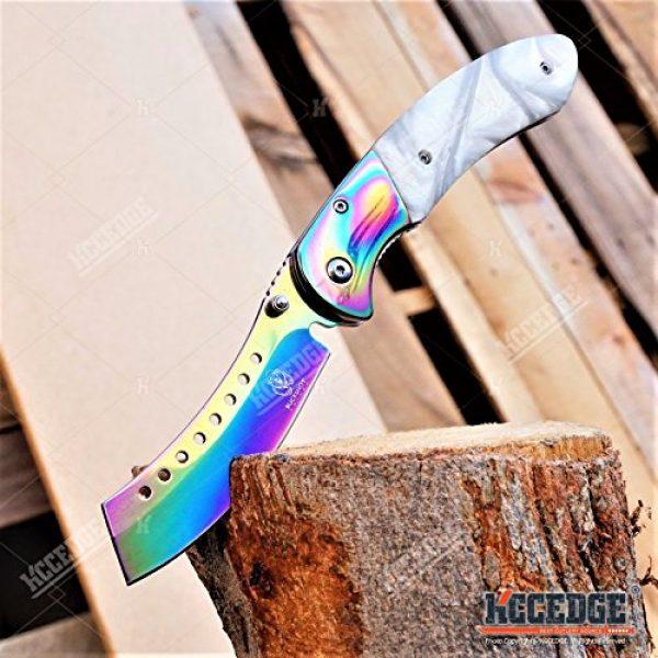 Wartech Folding Survival Knife 7 Buckshot Knives 8PC Ultimate Rainbow Combo Set Tactical Outdoor EDC Pocket Folding Knife Razor Blade Cleaver Wrench Multipurpose Camping Gear Pocket Knife