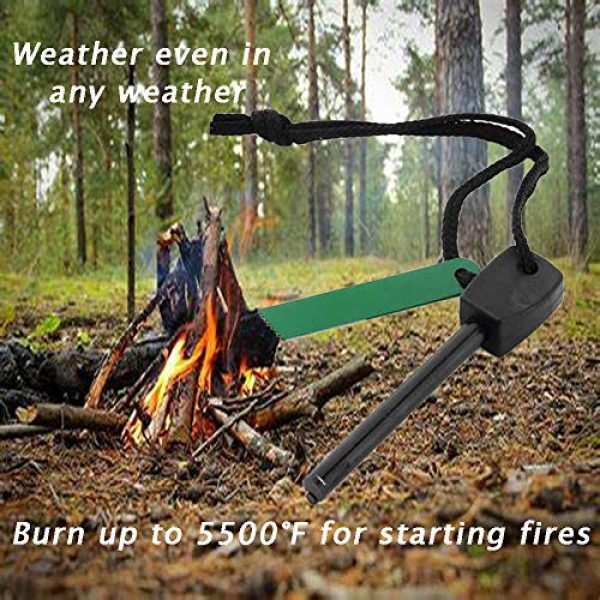Dikley Survival Fire Starter 5 Dikley Magnesium Flint Striker Survival Fire Starter Camping and Emergency Fire Starters Survival Kit