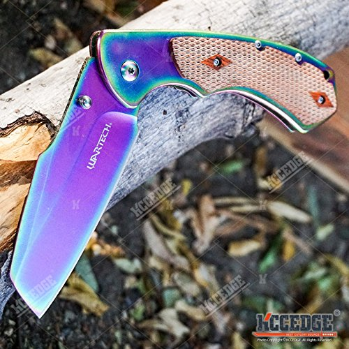 Wartech  5 Buckshot Knives 8PC Ultimate Rainbow Combo Set Tactical Outdoor EDC Pocket Folding Knife Razor Blade Cleaver Wrench Multipurpose Camping Gear Pocket Knife