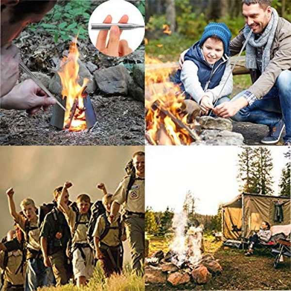 MaiTian Survival Fire Starter 7 Outdoor Magnesium Fire Starter,Camping Flint Compass,Tactical Keychain Essential Tool Camping, Birthday Gift, for Husband Dad Boyfriend Mens Ideas Gifts