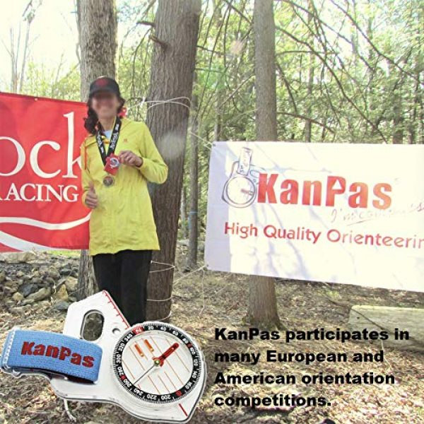 KanPas Survival Compass 5 Basic Training Competition Thumb Orienteering Compass for Foot Cross-Country Directional Movement