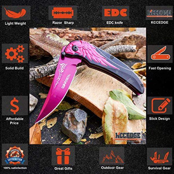 KCCEDGE BEST CUTLERY SOURCE Folding Survival Knife 3 KCCEDGE BEST CUTLERY SOURCE EDC Pocket Knife Camping Accessories Razor Sharp Edge Skull Folding Knife Camping Gear Survival Kit 58106