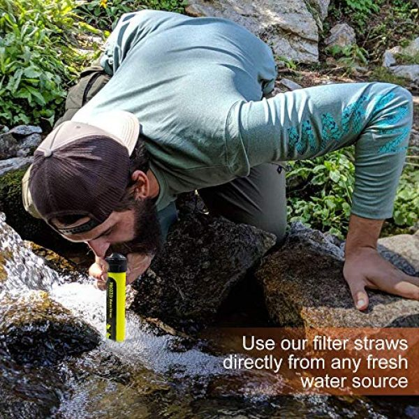 AVENTURE ET CULTURE Survival Water Filter 2 AVENTURE ET CULTURE Personal Water Filter for Hiking, Camping, Travel, and Emergency Preparedness