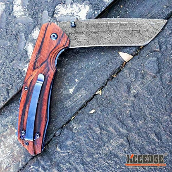 KCCEDGE BEST CUTLERY SOURCE Folding Survival Knife 6 KCCEDGE BEST CUTLERY SOURCE EDC Pocket Knife Camping Accessories Razor Sharp Edge Tanto Blade Folding Knife for Camping Gear Survival Kit 58694