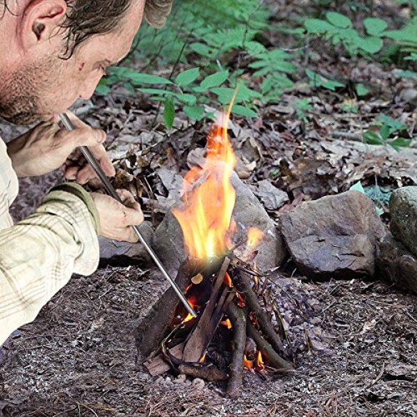 Jonhen Survival Fire Starter 6 Jonhen Campfire Tool Fire Bellows Builds Fire by Blasting Air,Outdoor Gear Collapsible Fire Tool