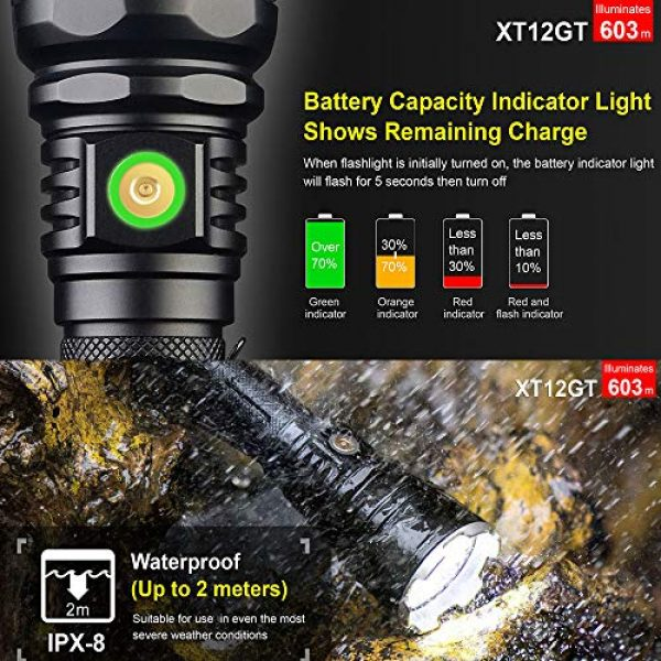 klarus Survival Flashlight 6 klarus XT12GT Rechargeable LED Flashlight with 18650 Battery, Extra 18650 Battery, Magnetic Charging Cable, Holster, Lanyard, and Lightjunction Battery Case