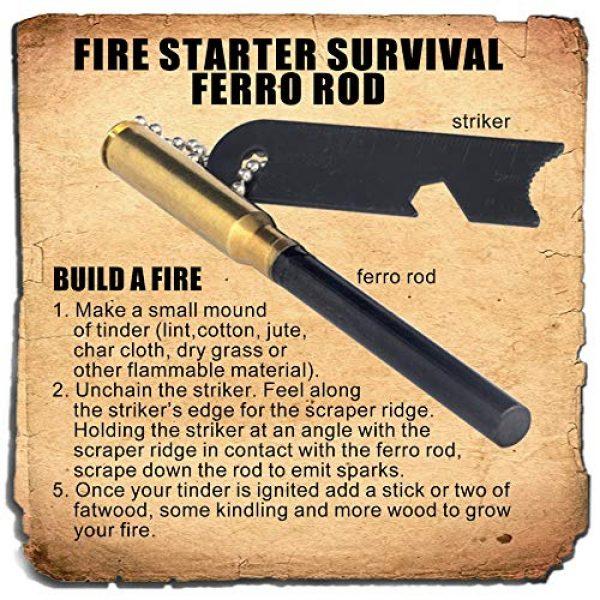 PBL Survival Fire Starter 2 PBL Ferrocerium Flint Fire Starter Survival Ferro Rod Made by Steve Kaeser Since 1989
