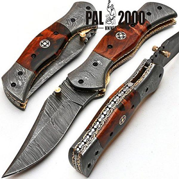 PAL 2000 KNIVES Folding Survival Knife 3 Custom Handmade Damascus Steel Hunting Folding Pocket Knife -Sword/Chef Kitchen Knife/Dagger/Full Tang/Skinner/Axe/Billet/Cleaver/Bar/Bowie/Kukri/knives accessories/survival/Camping With Sheath 8844