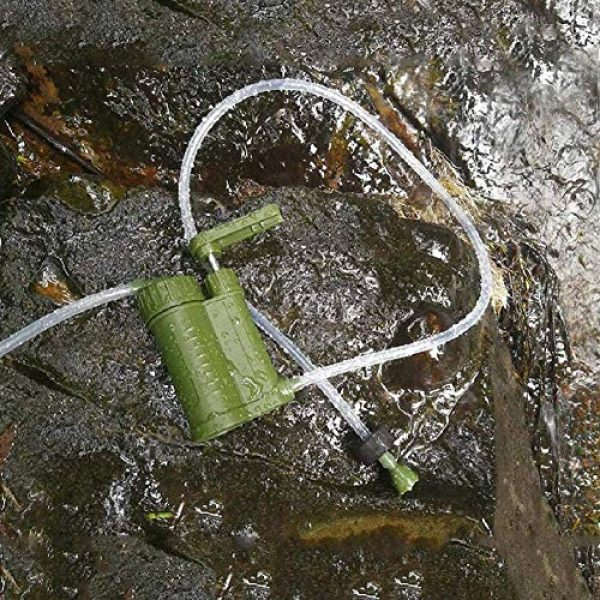OULATUWB Survival Water Filter 6 OULATUWB Mini Water Filtration System Portable Gravity Powered Water Purifier for Emergency Preparedness and Camping