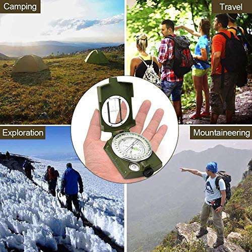 ydfagak Survival Compass 6 ydfagak Compass, Waterproof Hiking Military Navigation Compass with Fluorescent Design,Perfect for Camping Hiking and Other Outdoor Activities