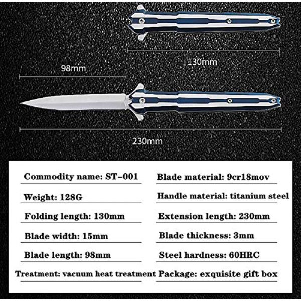 Menn Fixed Blade Survival Knife 2 Survival Knife with Sheath - Fixed Blade Tactical Knife, Hunting Knife and ST-001Military Knife Micro Technology Double Action Safety Knife EDC w/ 5.1 Inch Combat Knife Blade