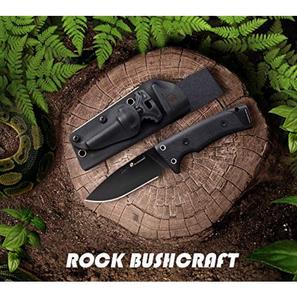 HX OUTDOORS Fixed Blade Survival Knife 2 Hunting Knife,Tactical Knife Fixed Blade with Durable Sheath,D2 Survival Knife for Outdoor Camping,Fishing,Bushcraft, Multi-tool with Sharpener,Fire Starter(8.7inches)