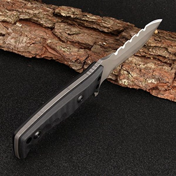 DAOMACHEN Fixed Blade Survival Knife 5 Outdoor Tactical Knife Survival Camping Tools Collection Hunting Knives with Imported K Sheath G10 Handle Super Sharp Hunting Fixed Blade Knives Full Tang