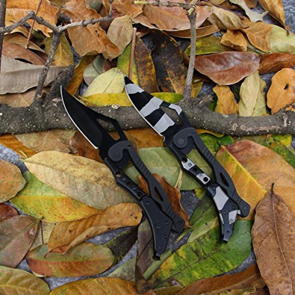BaiYing Folding Survival Knife 5 BaiYing Folding Pocket Knife, Good Survival Knife for Camping and Outdoor Activities, High Hardness Camping Hunting Knife for Hunting, Travels, Fishing (Black) (BYKA02C CAMO)