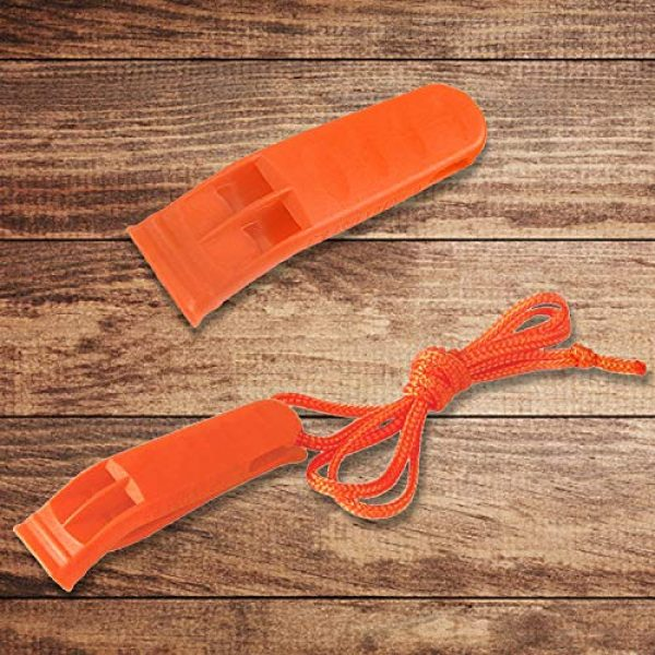 Augsun Survival Whistle 4 Augsun 40 Pcs Emergency Safety Whistle Plastic Whistles Set with Lanyard,Red and Orange
