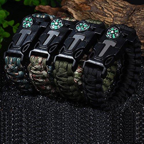 Wsobue  3 Paracord Bracelet