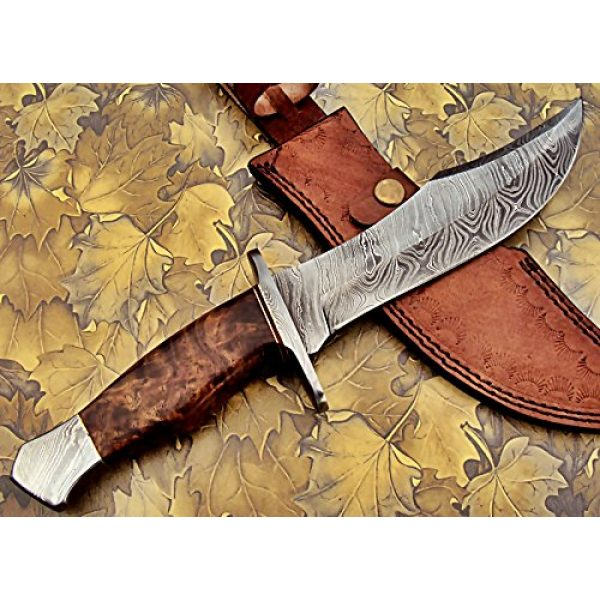 Poshland Fixed Blade Survival Knife 2 REG-274, Handmade Damascus Steel 13.00 Inches Hunting Knife - Rose Wood with Damascus Steel Guards Handle