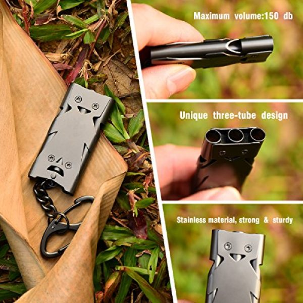 Binboll Survival Whistle 3 Binboll Whistle Emergency Whistles Keychain Rape Whistle Stainless Steel High Decibel Whistles