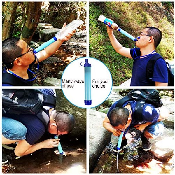 purely life Survival Water Filter 4 purely life Outdoor Water Purifier Survival Portable Purifier Wild Drink Ultrafiltration Personal Water Filter for Hiking, Camping, Travel, and Emergency Preparedness