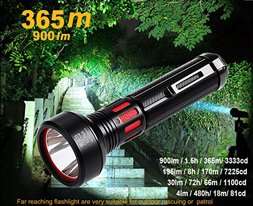 CIVICTOR  2 Super Bright Flashlight Tactical Military Grade 365m Ultra High Beam Pocket Waterproof IP68 Small LED Flashlight 18650 CR123A Battery Power 900 Lumens Mini Police EDC survival Camping Torch Light Gear