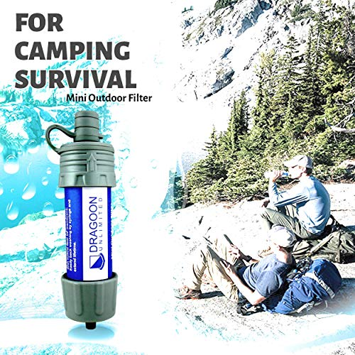 Dragoon Unlimited  2 Dragoon Unlimited Mini Camping & Survival Water Filter - Durable & Travel Size - Outdoor Emergency