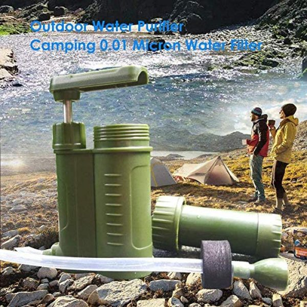 OULATUWB Survival Water Filter 2 OULATUWB Mini Water Filtration System Portable Gravity Powered Water Purifier for Emergency Preparedness and Camping