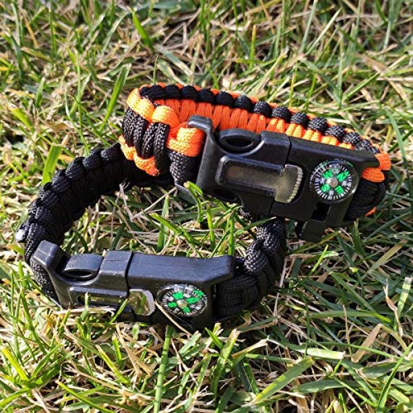 WEREWOLVES Survival Paracord Bracelet 6 WEREWOLVES Survival Paracord Bracelets,Professional Personal EDC Tactical Bracelet,Multifunction Camping Hiking Gear with Compass, Fire Starter, Whistle and Emergency Knife