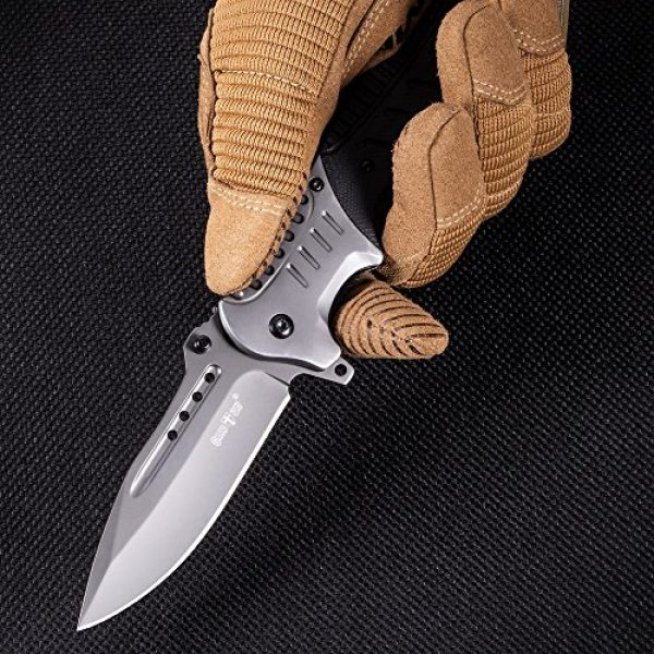 Grand Way Folding Survival Knife 3 Pocket Knife Spring Assisted Knives for Men - Assisted Opening Folding Tactical Survival Knofe - EDC Camping Hunting Boy Scouts Gear Accessories Knifes Christmas Gift Ideas for Men Guys 6783