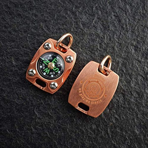 MecArmy Survival Compass 5 MecArmy CMP2-T High Sensitivity EDC Compass, Mechanical Instrument Inspired Design with Exquisite Engrave, Fluorescence Glow in The Dark Free Beaded Chain Worn as a Pendant