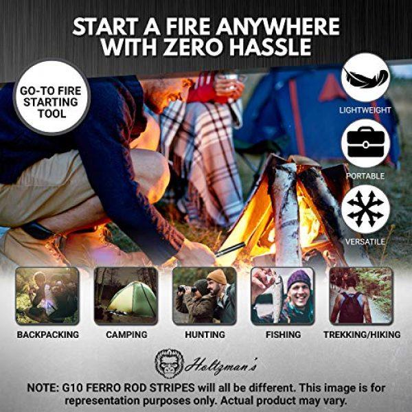"Holtzman's Gorilla Survival Survival Fire Starter 5 Premium Ferro Rod Fire Starter - Gift Box 6"", 4 1/2"" Ferrocerium Rod Survival Kit - 3 in 1 Magnesium Flint and Steel Set with Paracord & Scraper - Lightweight Emergency Camping Tool"