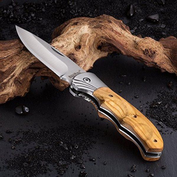 Grand Way Folding Survival Knife 5 Gentlemans Folding Knife Pocket Knife Knives Knofe Wood Handle Sharp Blade - Pocket Knife for Men - Best Folder for Camping Hunting - Survival EDC and Outdoor Gear Cool Mens Gift 6651 0924