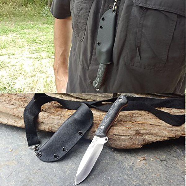 JEO-TEC Fixed Blade Survival Knife 4 JEO-TEC N11 Bushcraft Survival Fixed Blade Neck Knife - MOVA Stainless Steel - Sheath - Handmade