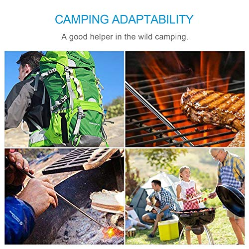 NAHAO Survival Fire Starter 6 NAHAO Collapsible Outdoor Blow Fire Tube, Stainless Steel Telescopic Fire Bellows by Blasting Air for Camping Traveling