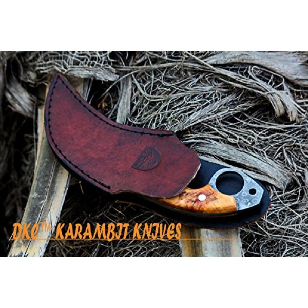 """DKC Knives Fixed Blade Survival Knife 7 DKC Knives (5 5/18) DKC-87-DS OWL Fox Damascus Steel Skinner Hunting Knife 8"""" Long 6.2oz High Class Looks Incredible Feels Great in Your Hand and Pocket Hand Made"""