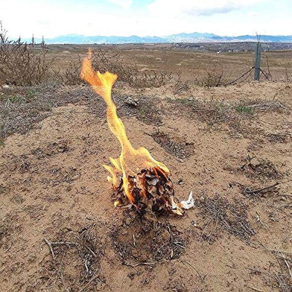 FR1 Defense Survival Fire Starter 6 Fire Ace Tinder. Fire Starting Tinder with Survival Guide Bonus!! Great for Camping Gear, Backpacking Accessories. Reliable Fire Tinder
