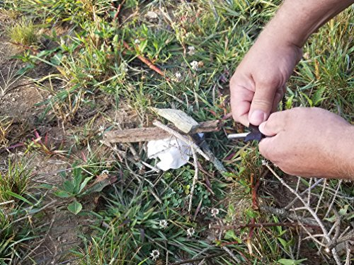 Dream wave Products Survival Fire Starter 4 Magnesium flint fire starter 6-in-1 multifunctional Flint + Compass + Scraper + Bottle Opener + Dividing Ruler + Map Rangefinder