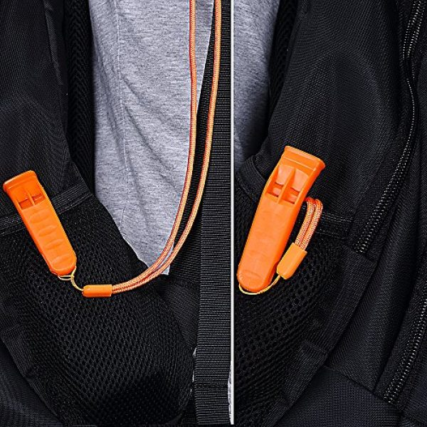 KASUNEN Survival Whistle 6 KASUNEN Safety Whistle Marine Whistle with Lanyard (6 Pack) for Boating Camping Hiking Hunting Emergency Survival Rescue
