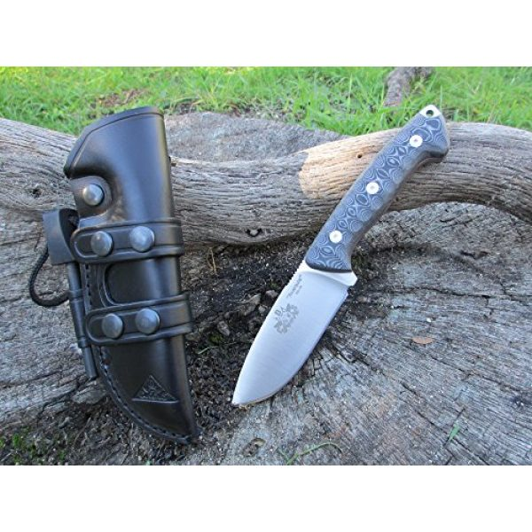 CDS-Survival Fixed Blade Survival Knife 6 Bushcraft Survival Hunting Knife, Stainless Steel MOVA-58, Genuine Leather Horizontal-Vertical Belt Sheath + Firesteel, Handmade