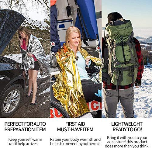 ioutdoor  4 ioutdoor 2 Pack Water Filter Straw with Free Emergency Blankets