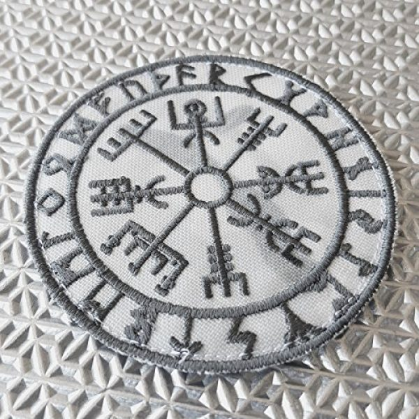 LEGEEON Survival Compass 2 LEGEEON Multicam Alpine Vegvisir Viking Compass Norse Rune Heathen Tactical Morale Fastener Patch