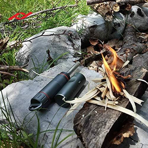 FERROFIRE Survival Fire Starter 5 FERROFIRE XXL (S10E1), Survival Fire Starter, Multi-Function Survival Gear for bushcrafter, bushcraft Gear, EDC Gear with Replaceable Ferro Rod, Waterproof Capsule, Built-in Striker, Compass