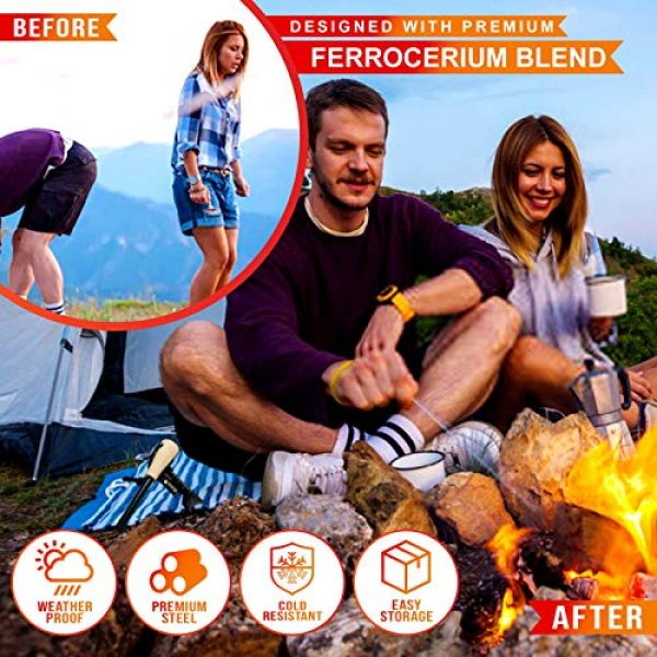 Dragoon Unlimited Survival Fire Starter 6 Dragoon Unlimited Fire Starter Kit - Traditional Bushcraft Ferro Rod - Emergency Survival Tool - Handmade Wooden Handle - Perfect for Camping, Hiking, Adventure Trips - 12,000-20,000 Strikes