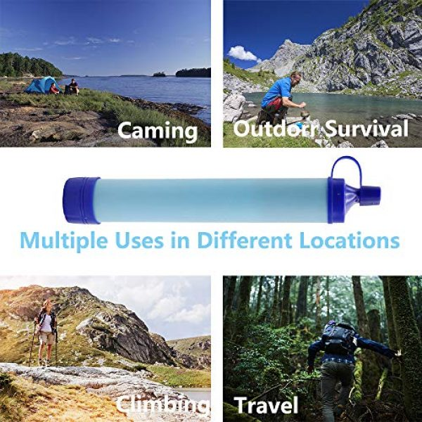 Lafiucy Survival Water Filter 4 Lafiucy Personal Water Filter, Mini Water Filtration System,Water Filter Straw for Drinking, Hiking, Camping, Travel, Portable Gear Emergency
