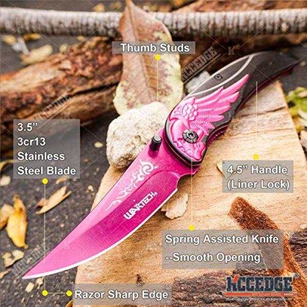 KCCEDGE BEST CUTLERY SOURCE Folding Survival Knife 2 KCCEDGE BEST CUTLERY SOURCE EDC Pocket Knife Camping Accessories Razor Sharp Edge Skull Folding Knife Camping Gear Survival Kit 58106