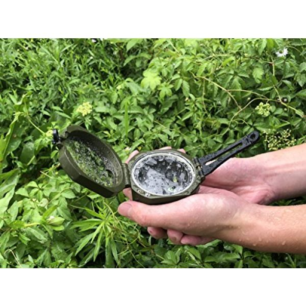 AOFAR Survival Compass 7 AOFAR AF-M2-B Military Compass Lensatic Sighting-Multifunctional, Fluorescent, Waterproof and Shakeproof with Inclinometer and Carrying Bag for Camping, Hiking, Hunting