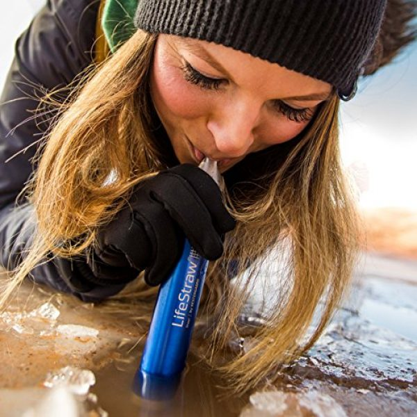 LifeStraw Survival Water Filter 3 LifeStraw Steel Personal Water Filter with 2 Stage Carbon Filtration for Hiking, Camping, Travel and Emergency Preparedness