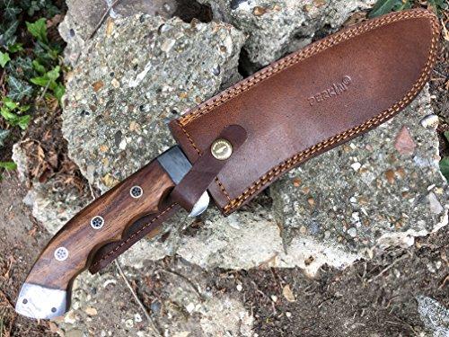 Perkin  7 Perkin - Hunting Knife with Leather Sheath - D2 Steel Blade